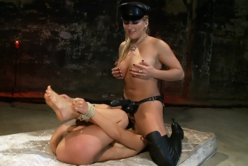 Forced Into Submission And Lesbian Bondage